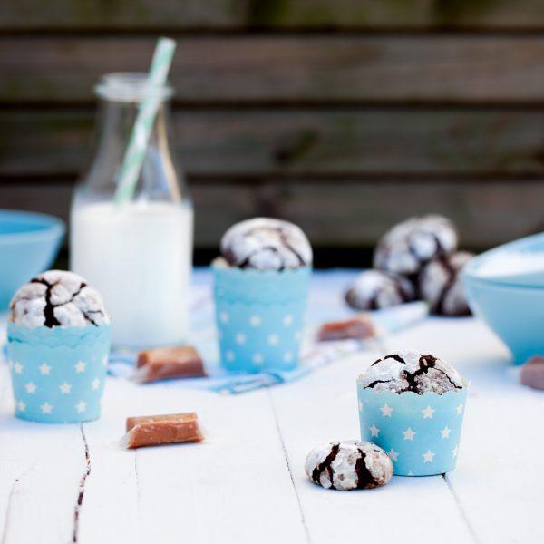 Ciasteczka czekoladowe zkrówkami