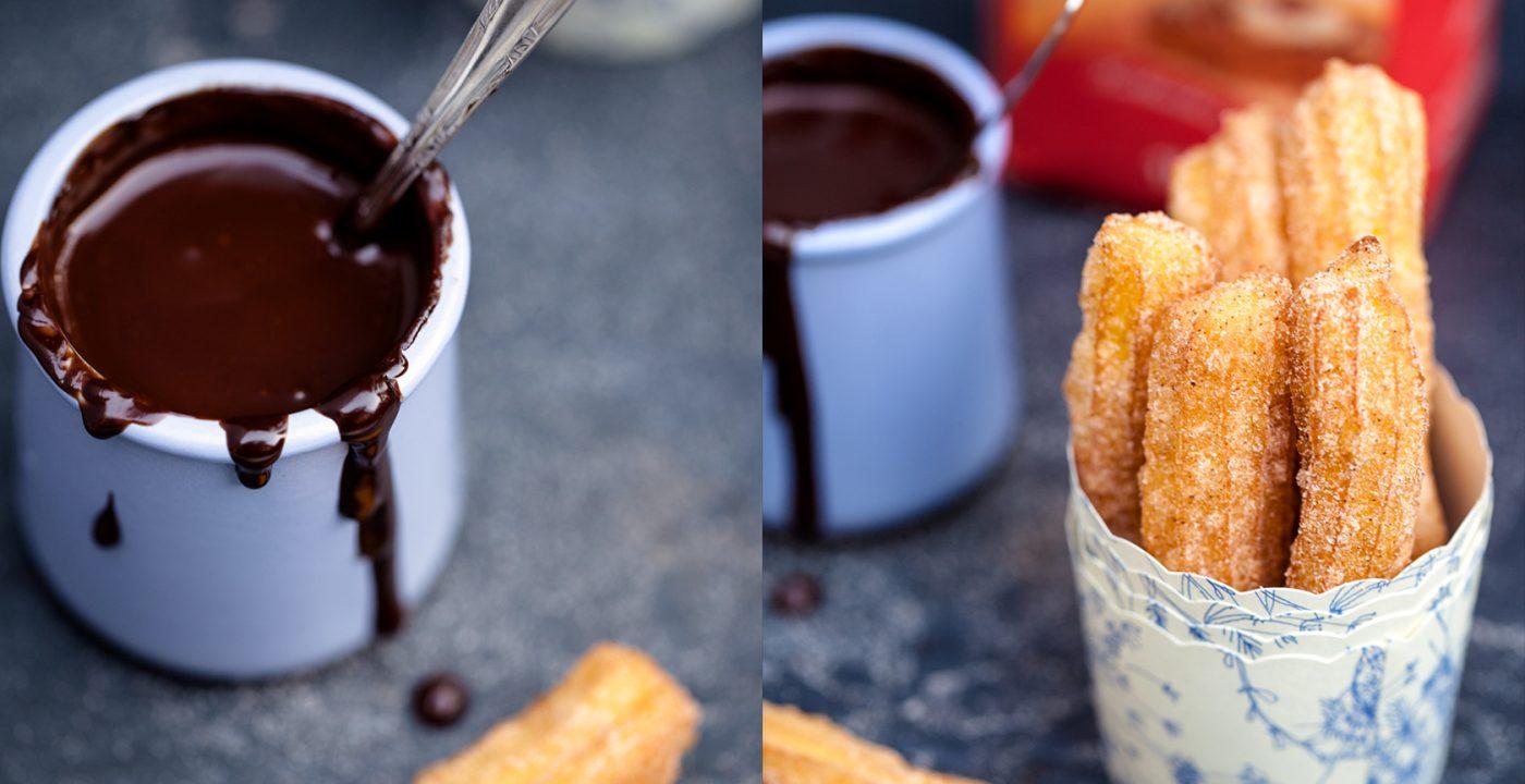 Chocolate con churros – hiszpańskie pączki zsosem czekoladowym