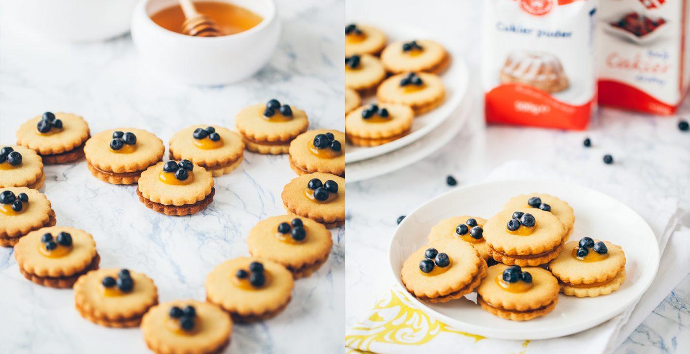 Ciasteczka miodowo-migdałowe zpapają